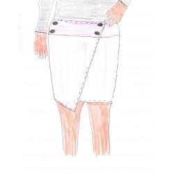 patron grande taille jupe Andri